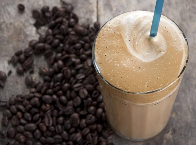 Smoothie de café para o pré-treino