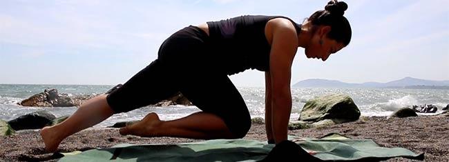 Abdominais de pilates e yoga