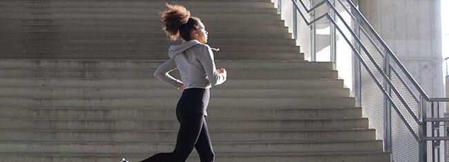correr até o trabalho