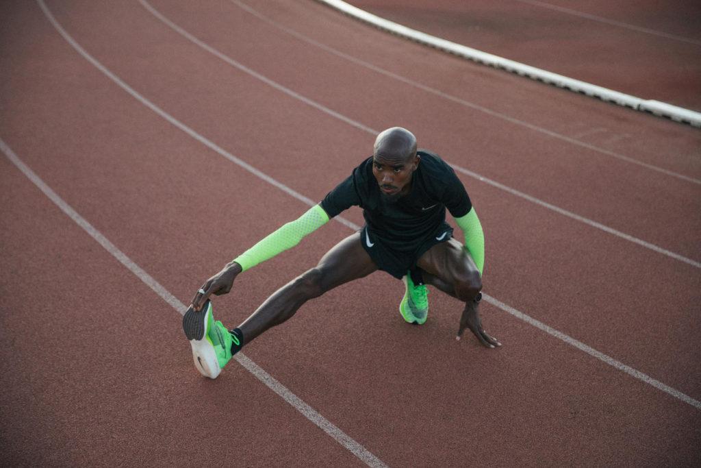 Atleta usando o Nike Vaporfly ZoomX Next%